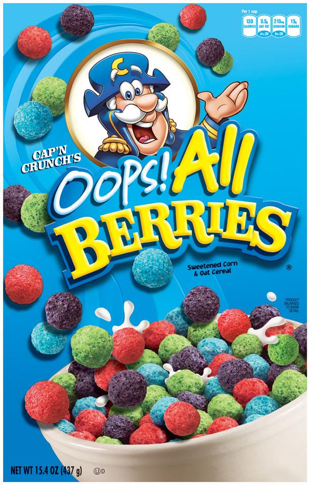 Cap'n Crunch Oops! All Berries Cereal 15.4 Oz Box