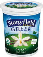 Stonyfield Organic™ Greek Vanilla Nonfat Yogurt 32 oz. Tub