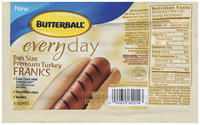 Butterball Everyday Bun Size Premium 16 Oz Turkey Franks 8 Ct Package