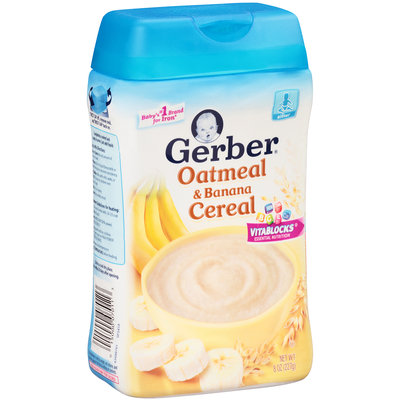 Gerber® Oatmeal & Banana Cereal 8 oz. Canister