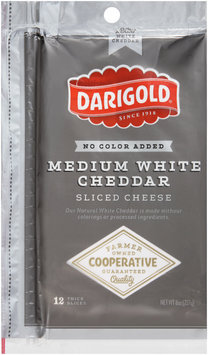 Darigold® Medium White Cheddar Sliced Cheese 12 oz. Bag