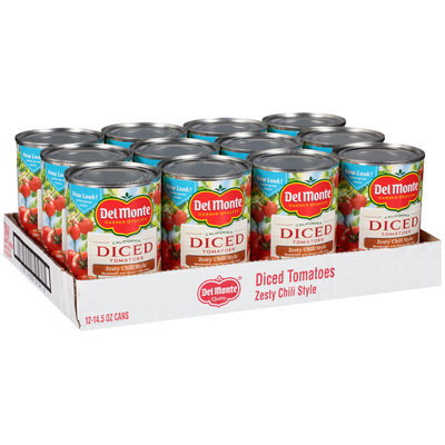 Del Monte™ Zesty Chili Style California Diced Tomatoes 12-14.5 oz. Cans