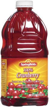 Springfield 100% Cranberry Juice  64 Fl Oz Plastic Bottle