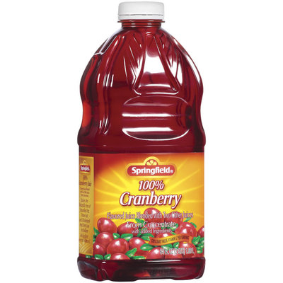 Springfield 100% Cranberry Juice  64 Fl Oz Plastic Bottle