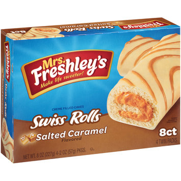 Mrs Freshley's® Salted Caramel Flavored Swiss Rolls 4-2 oz. Packages