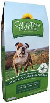 California Natural® Brown Rice & Lamb Meal Formula Weight Management Adult Dog Food