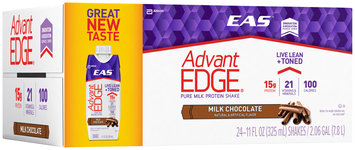 EAS® AdvantEdge® Milk Chocolate Pure Milk Protein Shakes 24-11 fl. oz. Cartons