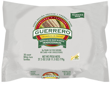 Guerrero White Corn 30 Ct Tortillas 27.5 Oz Bag
