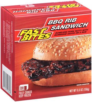 Fast Bites BBQ Rib Sandwich