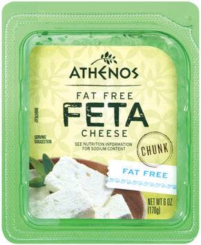 Athenos Fat Free Chunk Feta Cheese 6 oz.