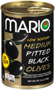 Mario® Low Sodium Medium Pitted Black Olives 6 oz. Pull Top Can