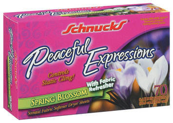 Schnucks Fabric Softener Dryer Sheets Spring Blossom W/Fabric Refresher 6.4
