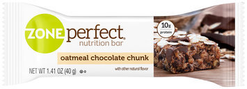 Zone Perfect® Oatmeal Chocolate Chunk Nutrition Bar 1.41 oz. Pack