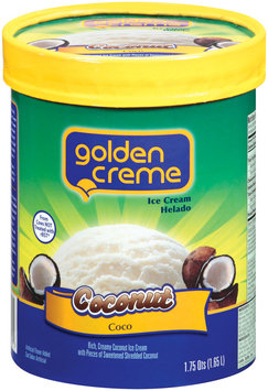 Golden Creme Coconut Ice Cream 1.75 Qt Carton
