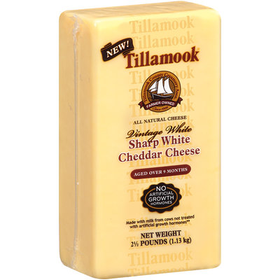 Tillamook® Vintage White Sharp White Cheddar Cheese 2.5 lb. Brick
