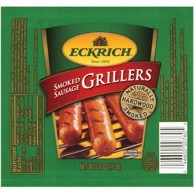 Eckrich Smoked Grillers  Sausage 16 Oz Pack