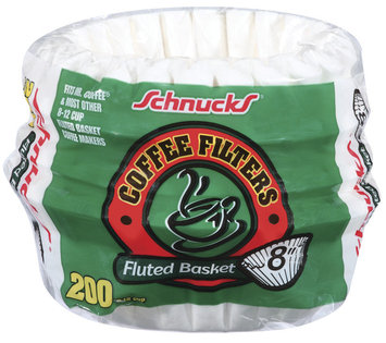 Schnucks Fluted Basket Coffee Filters