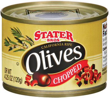 Stater Bros. California Ripe Chopped Olives 4.25 Oz Can