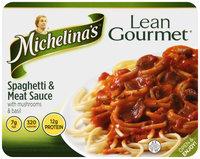 Michelina's® Lean Gourmet® Spaghetti & Meat Sauce with Mushrooms & Basil 9 oz. Tray
