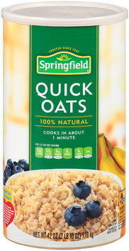 Springfield® Quick Oats 42 oz. Canister
