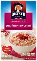 Quaker® Strawberry & Cream Instant Oatmeal