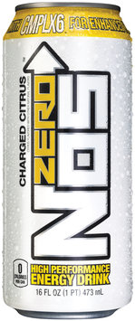 NOS Zero™ Charged Citrus High Performance Energy Drink 16 fl. oz. Can