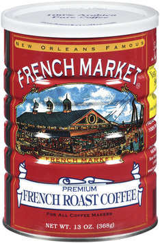 French Market Premium French Roast Ground Coffee 13 Oz Canister