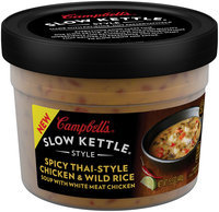 Campbell's Slow Kettle Style Spicy Thai-Style Chicken & Wild Rice Soup 15.5 oz.