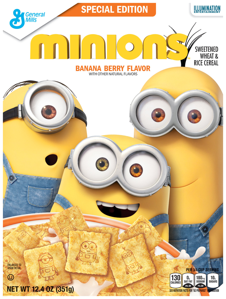 Minions™ Banana Berry Flavor Cereal 12.4 oz. Box