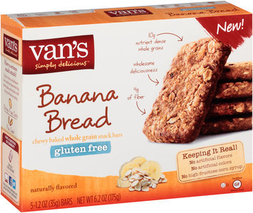 Van's Simply Delicious™ Gluten Free Banana Bread Snack Bars 5-1.2 oz. Bars