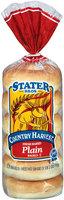 Stater Bros. Plain Country Harvest 6 Ct Bagels 18 Oz Bag