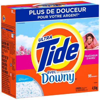 Tide Ultra Plus Touch of Downy April Fresh Scent Powder Laundry Detergent 176 oz. Box