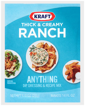 Kraft® Thick & Creamy Ranch Dip, Dressing & Recipe Mix 1.0 oz. Packet
