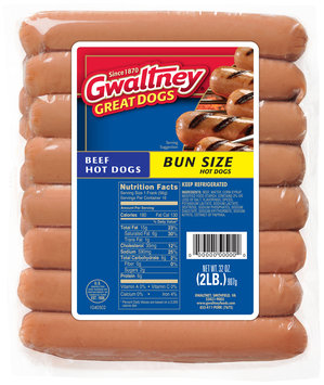 Gwaltney® Bun Size Beef Hot Dogs 32 oz. Pack