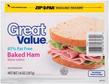 Great Value™ Baked Ham 14 oz. ZIP-PAK®