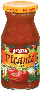 Stater Bros. Medium Picante Sauce 16 Oz Jar