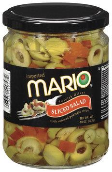 Mario Spanish Sliced Salad Olives 10 Oz Jar