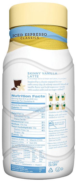 Starbucks Skinny Vanilla Latte Espresso Beverage Reviews 2019