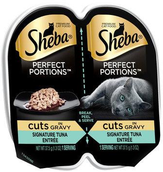 Sheba® Perfect Portions™ Cuts in Gravy Signature Tuna Entree Cat Food 2-1.3 oz. Cups