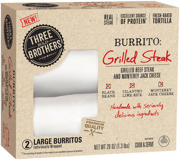 Three Bold Brothers™ Grilled Steak Burritos 2 ct Box