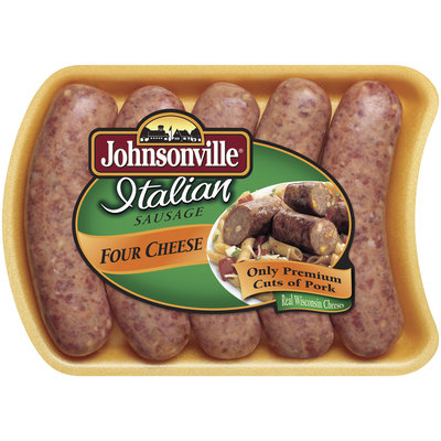 Johnsonville Four Cheese Italian Sausage Links 19oz tray (101360, 101372)