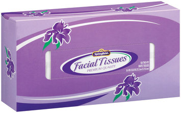 Springfield Two-Ply White Facial Tissues 130 Ct Box