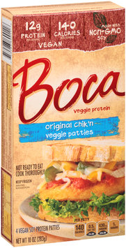 Boca Original Chik'n Veggie Patties Made with Non-GMO Soy 4 ct Box