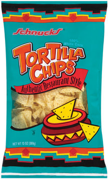 Schnucks White Corn Authentic Restaurant Style Tortilla Chips 13 Oz Bag