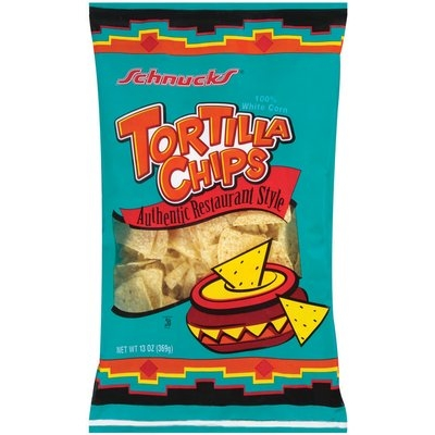 Schnucks White Corn Authentic Restaurant Style Tortilla Chips 13 Oz Bag
