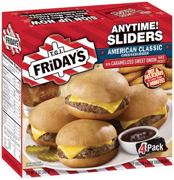 T.G.I. Friday's American Classic Cheeseburger 4 Ct Anytime! Sliders 12 Oz Box
