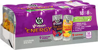 V8 V-Fusion® +Energy Pomegranate Blueberry/Peach Mango Vegetable & Fruit Juice 18-8 fl.oz. Cans