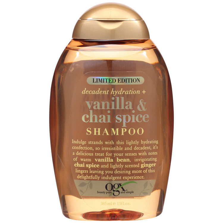 OGX Decadent Hydration + Vanilla & Chai Spice Shampoo Reviews 2019
