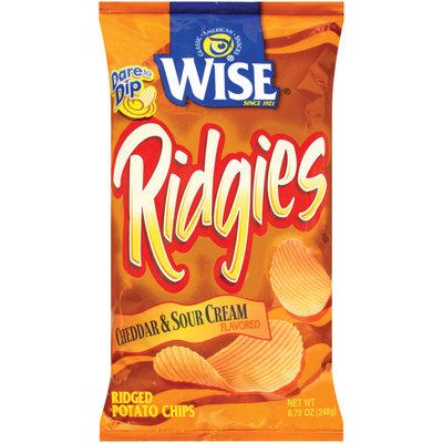 Wise Cheddar & Sour Cream Ridged Potato Chips 8.75 Oz Bag