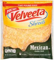 Kraft Mexican Style Cheddar Blend Velveeta Shreds 32 oz. Bag